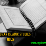 Holy Quran Islamic Studies MCQs