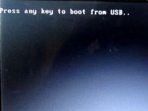 press any key boot able screen