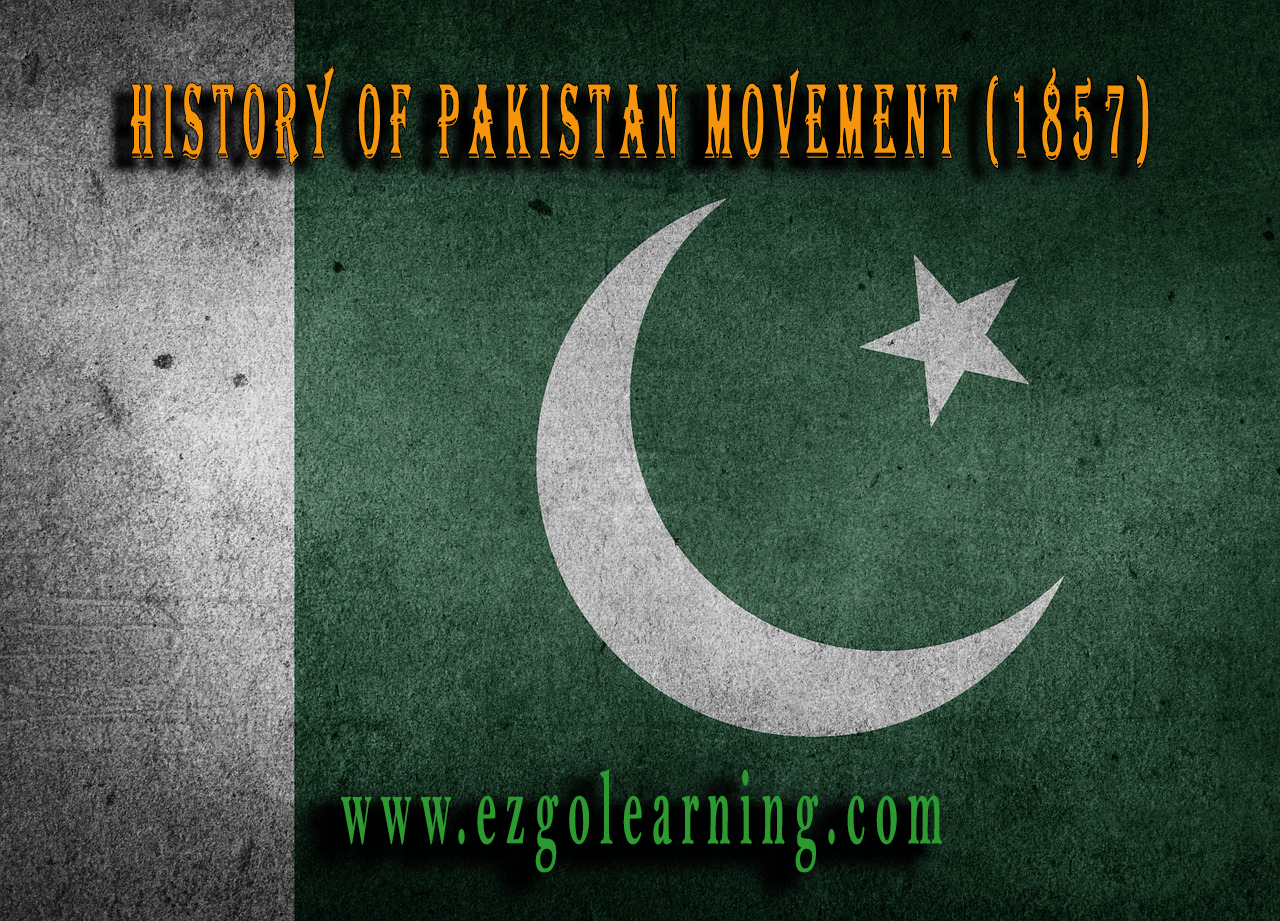 History of Pakistan Movement 1857 MCQS - Page 2 of 10 - Easy