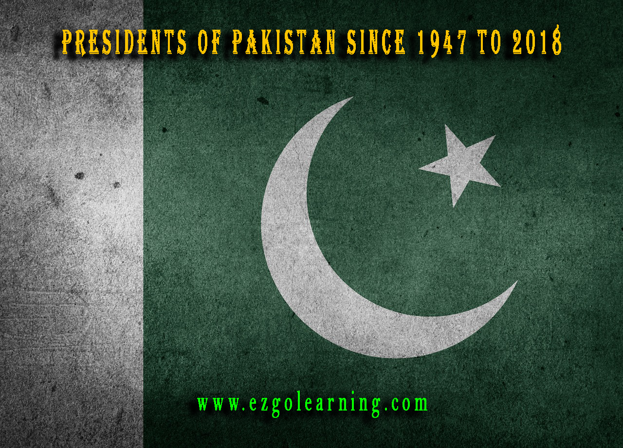 Pakistan Presidents and their Tenure