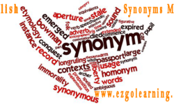 English Synonyms MCQs List for Fpsc, Ppsc, Kppsc, Nts Exams