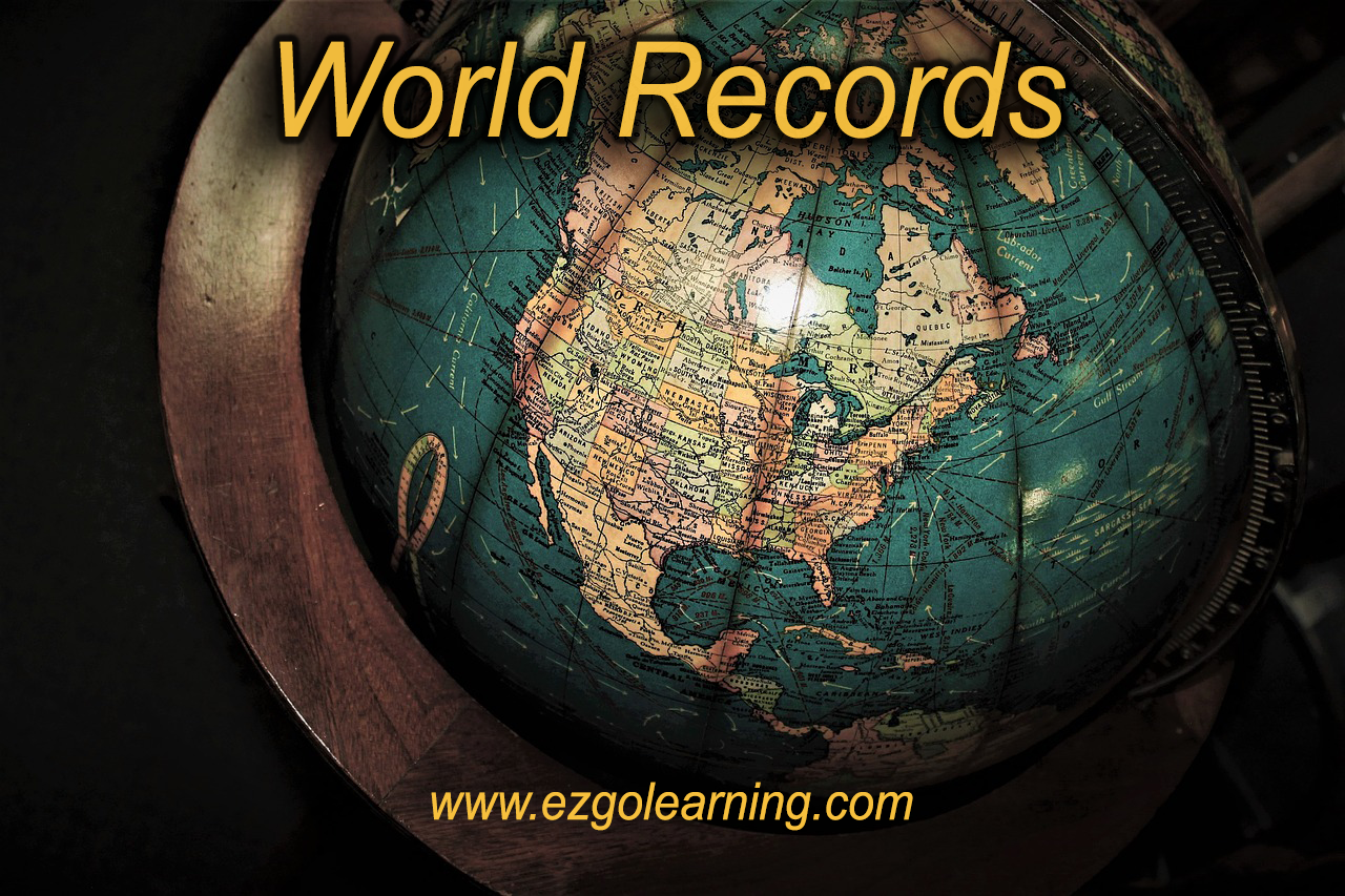 World Records General Knowledge MCQS - Easy Go Learning