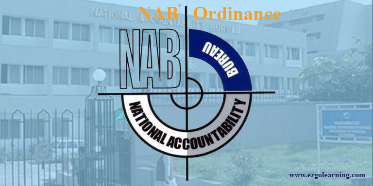 NAB Ordinance (1999) Mcqs